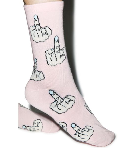 Local Heroes Middle Finger Socks