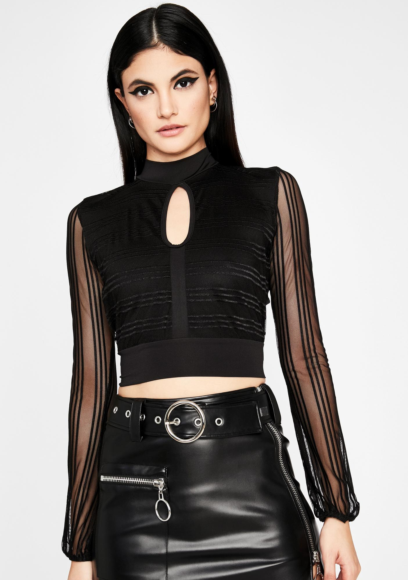 Think About Me Keyhole Top