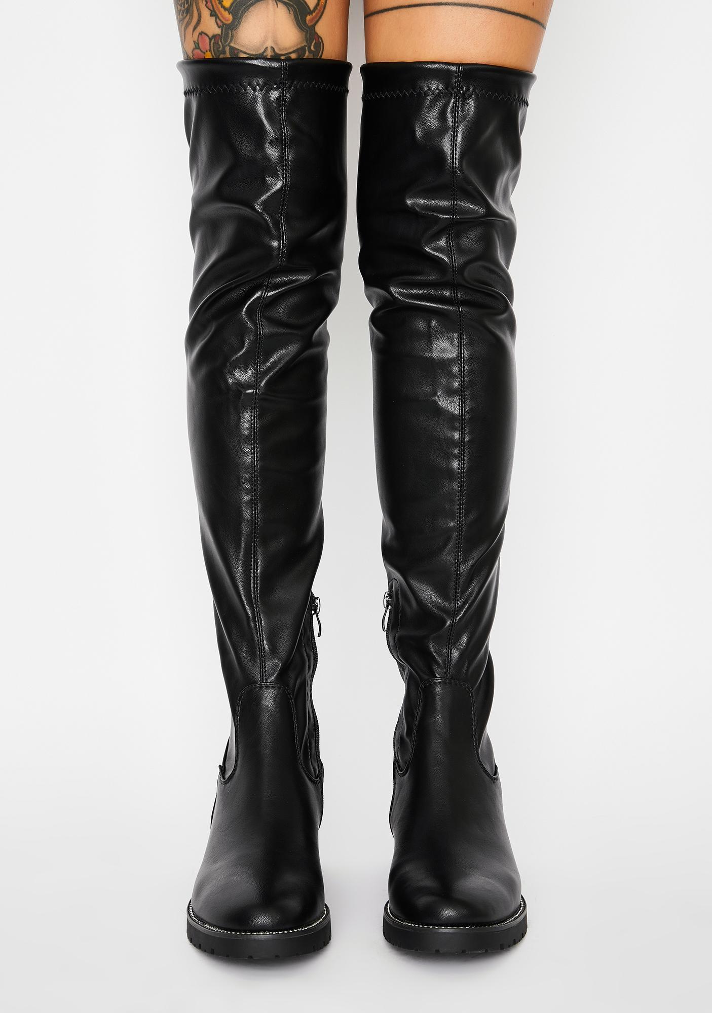 AZALEA WANG Uptown Thigh High Boots