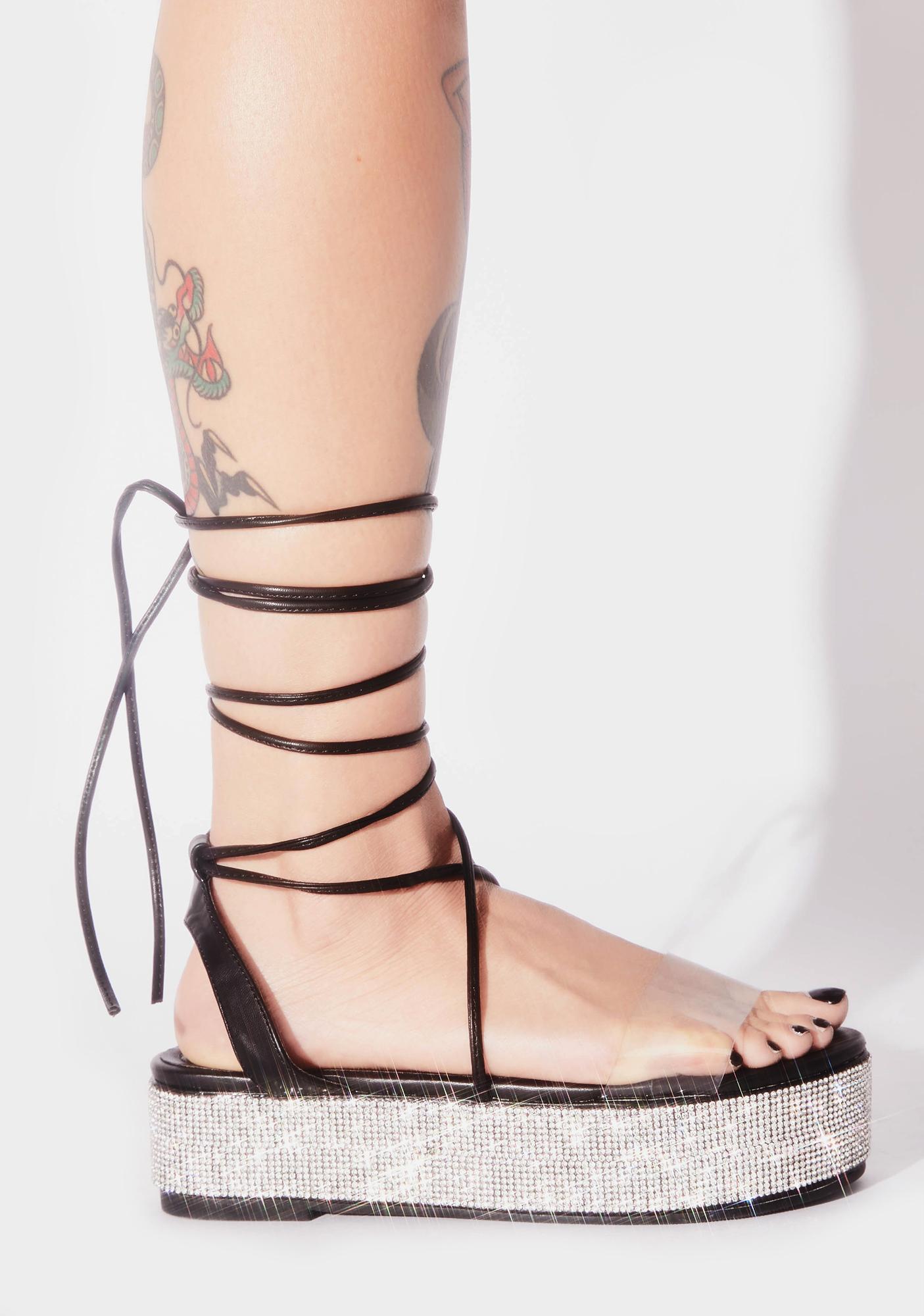 Festie Glam Platform Sandals