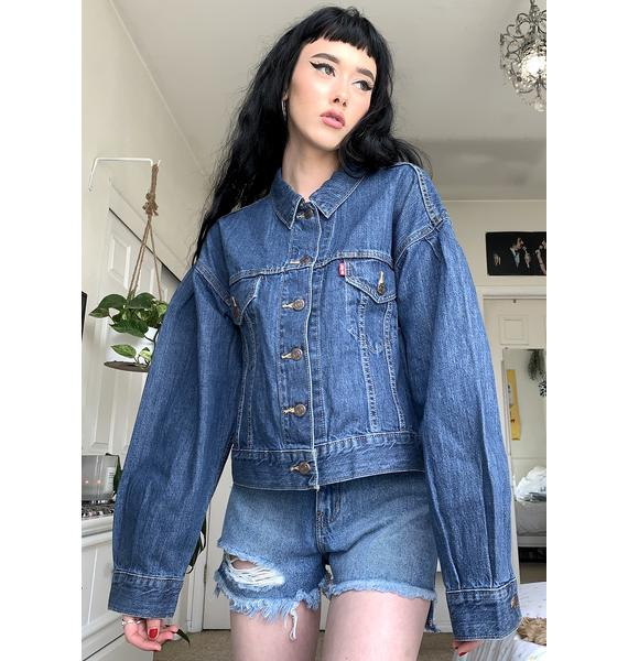 Levis Princess Di Pleated Trucker Jacket