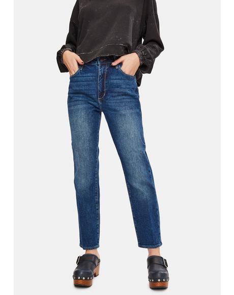 Ewa Beach Kate High Waist Crop Denim Jeans