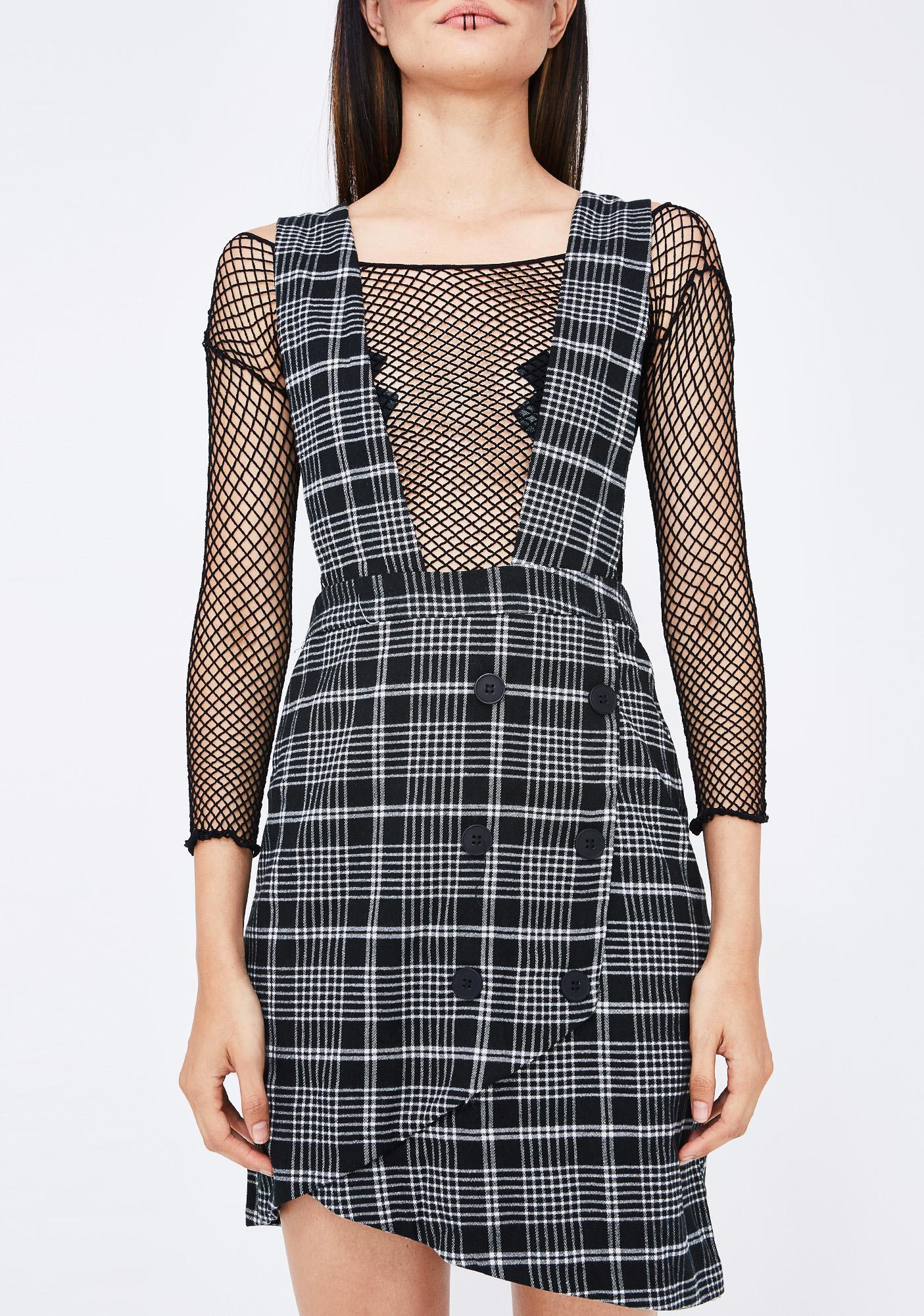 Xtra Credit Plaid Dress