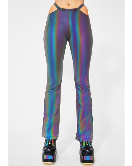 Laserdance Reflective Cut-Out Pants