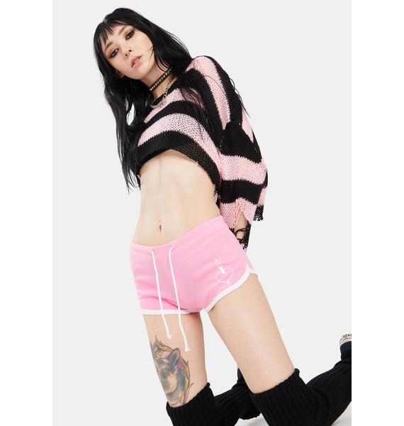 Too Fast Pink Kill Me Booty Shorts