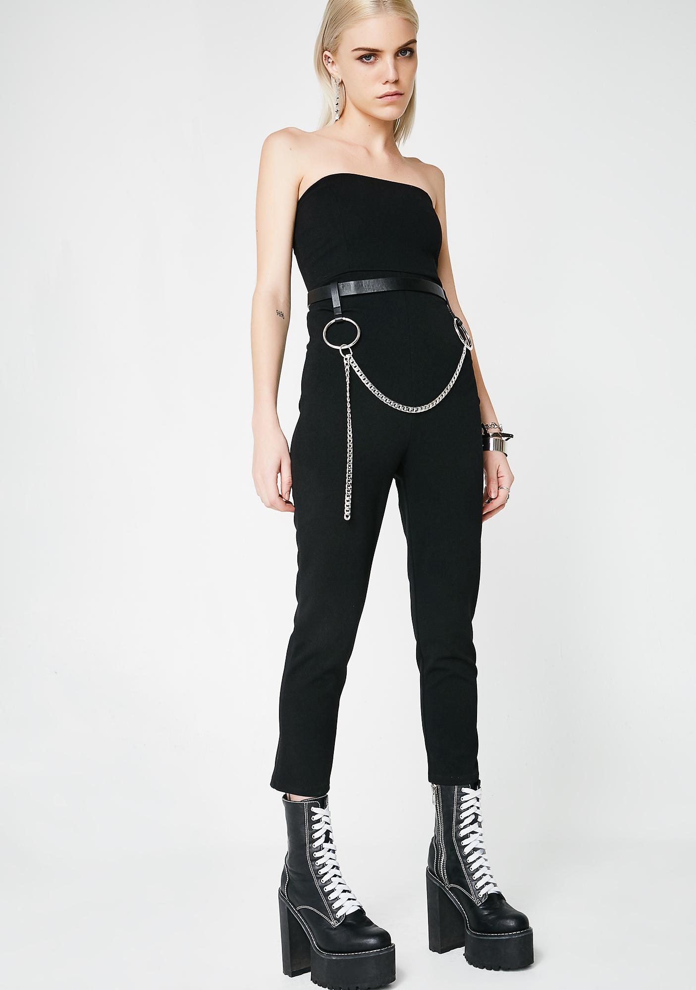 Lose Control Strapless Jumpsuit