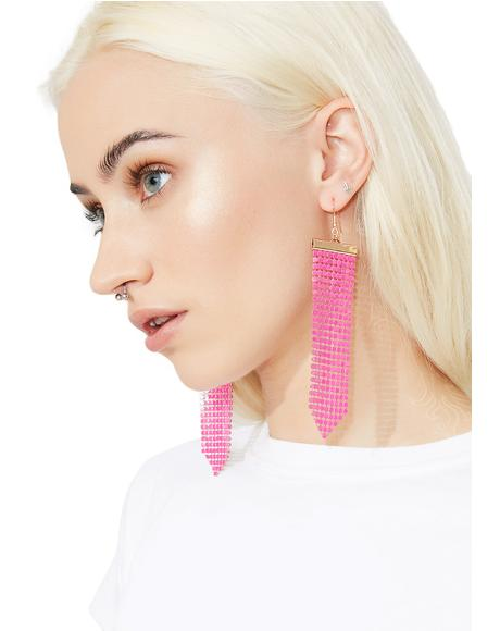 Pink Lights Earrings
