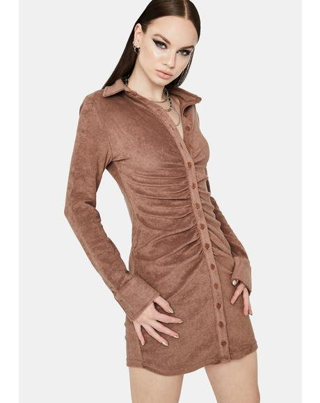 Cocoa Stay Classy Button Up Shirt Dress