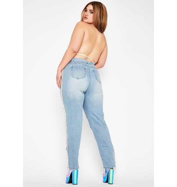 Club Exx Infamous Rouge Rager Fringe Jeans