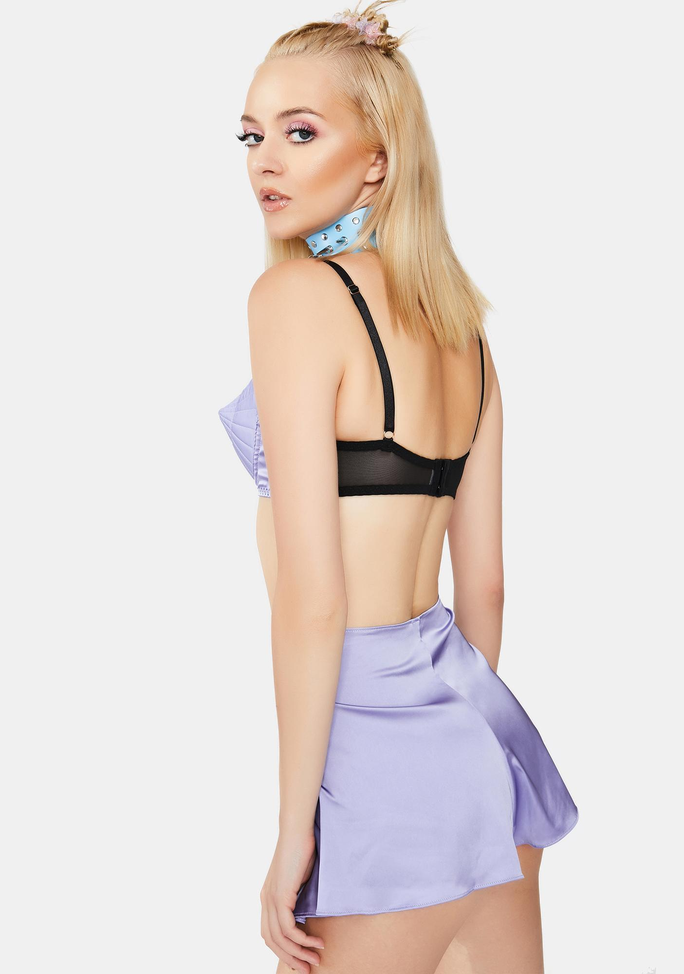 Playful Promises X Bettie Page Lilac Retro Futuristic Bullet Bra