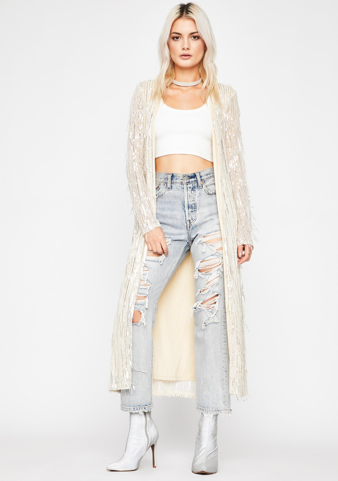 Champagne Euphoric Fairy Sequin Duster