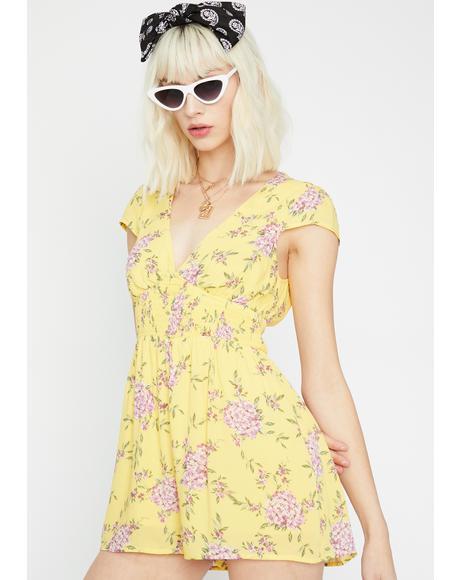 Sunshine Sass Floral Romper