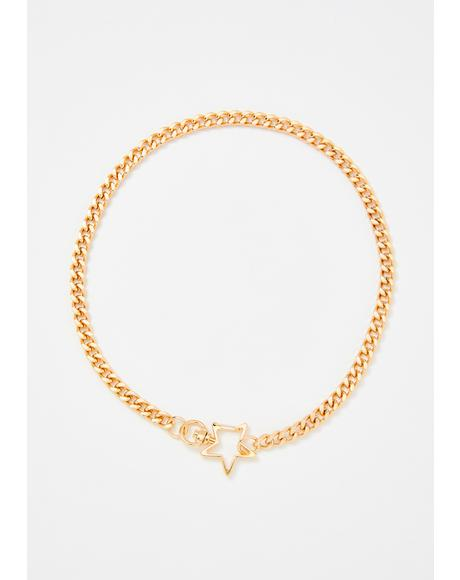 Stolen Star Chain Necklace