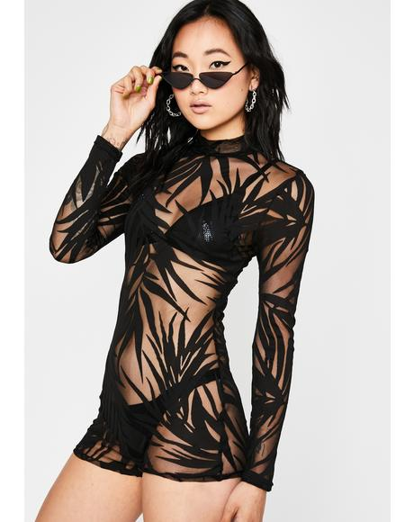 Leaf It To Me Sheer Romper
