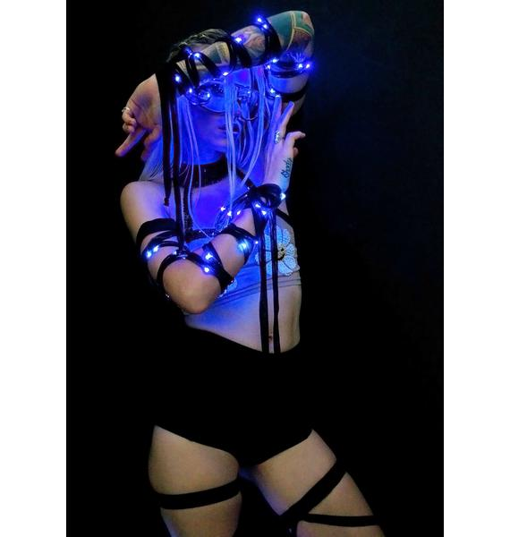 J Valentine Blu Ice Light-Up Arm Wraps