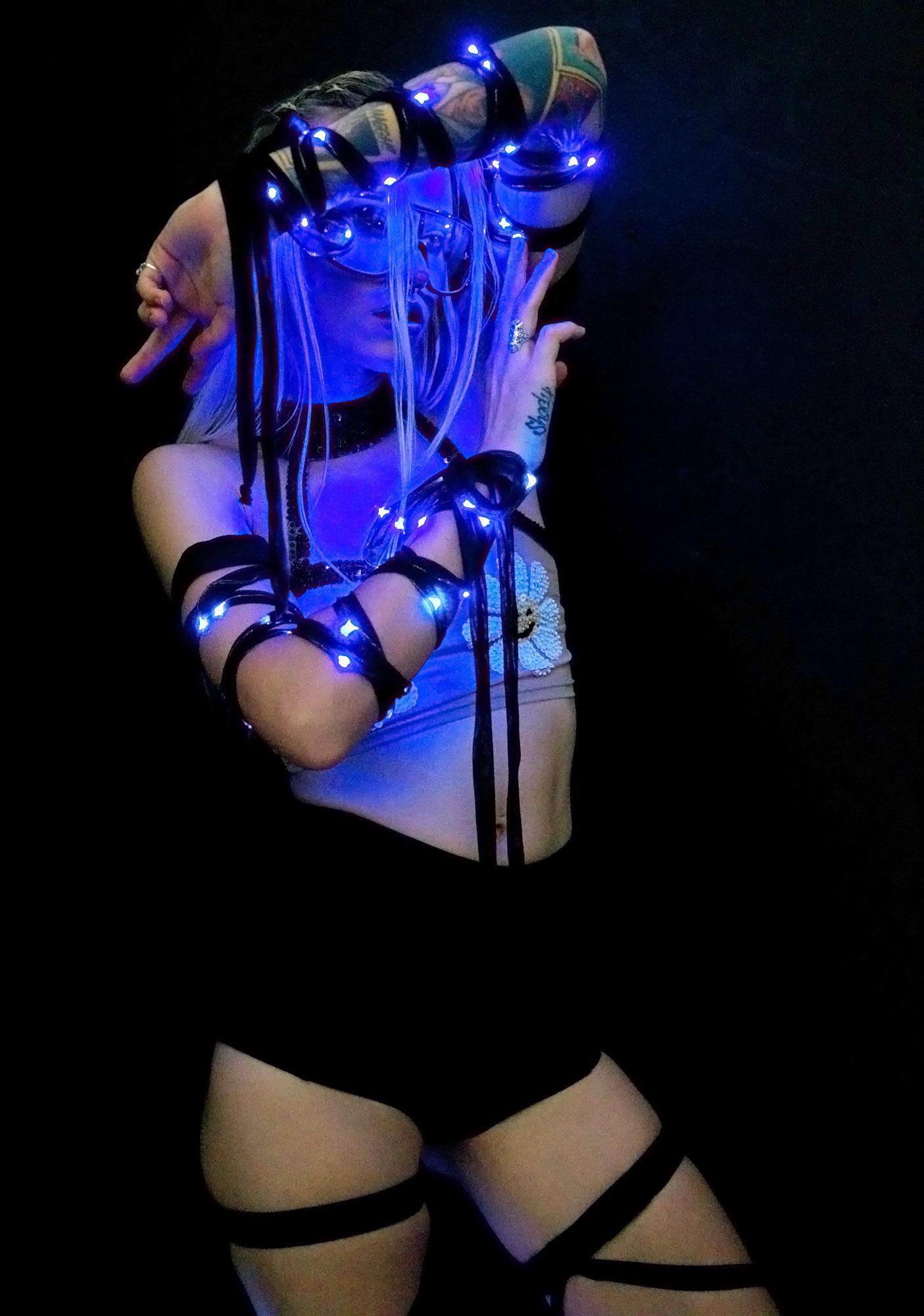 J Valentine Blu Ice Light-Up Arm Wraps
