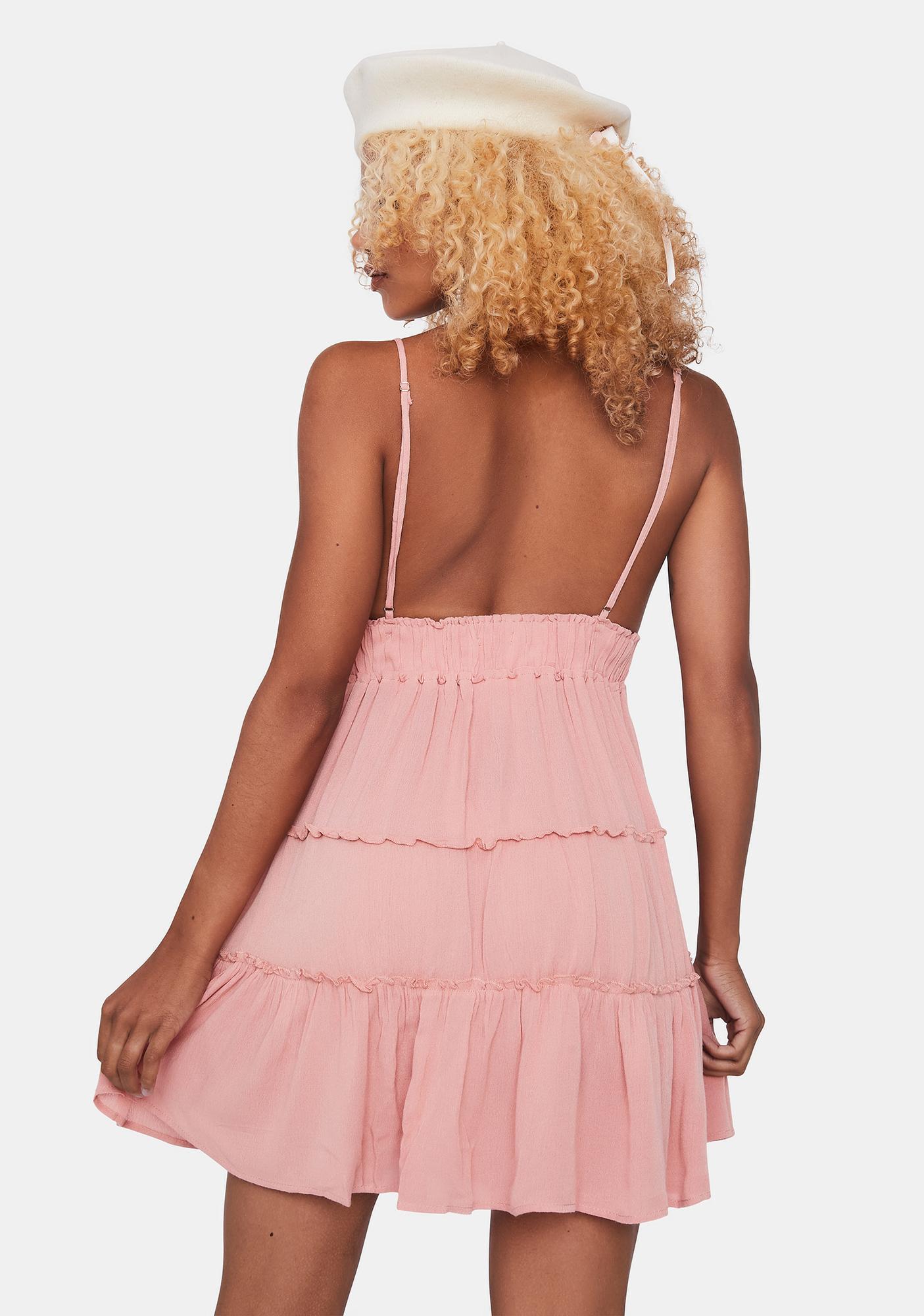 Coral Always Flirty Mini Dress