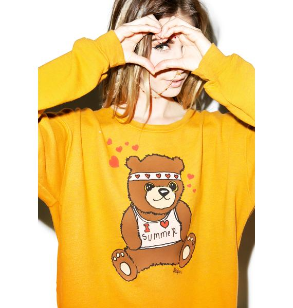 Wildfox Couture Teddy Hug Oversized Sweatshirt
