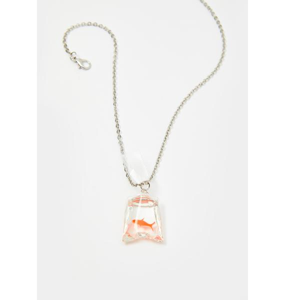 Just Keep Swimming Fish Necklace