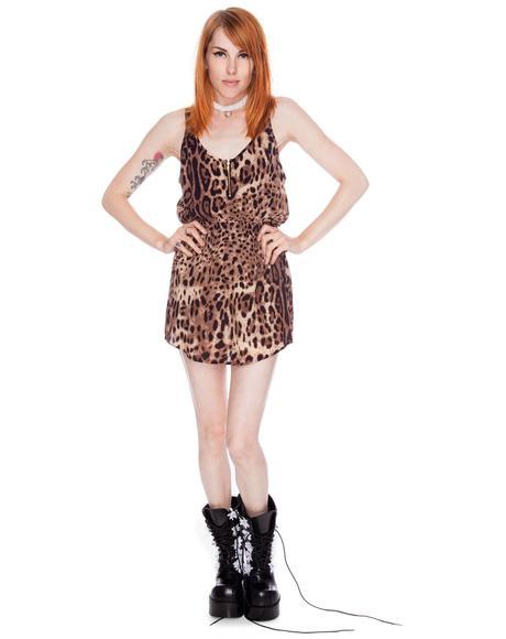 Leopard Spot Tank Dress