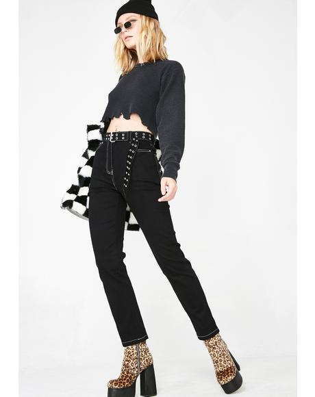 Bad Baby Belted Jeans