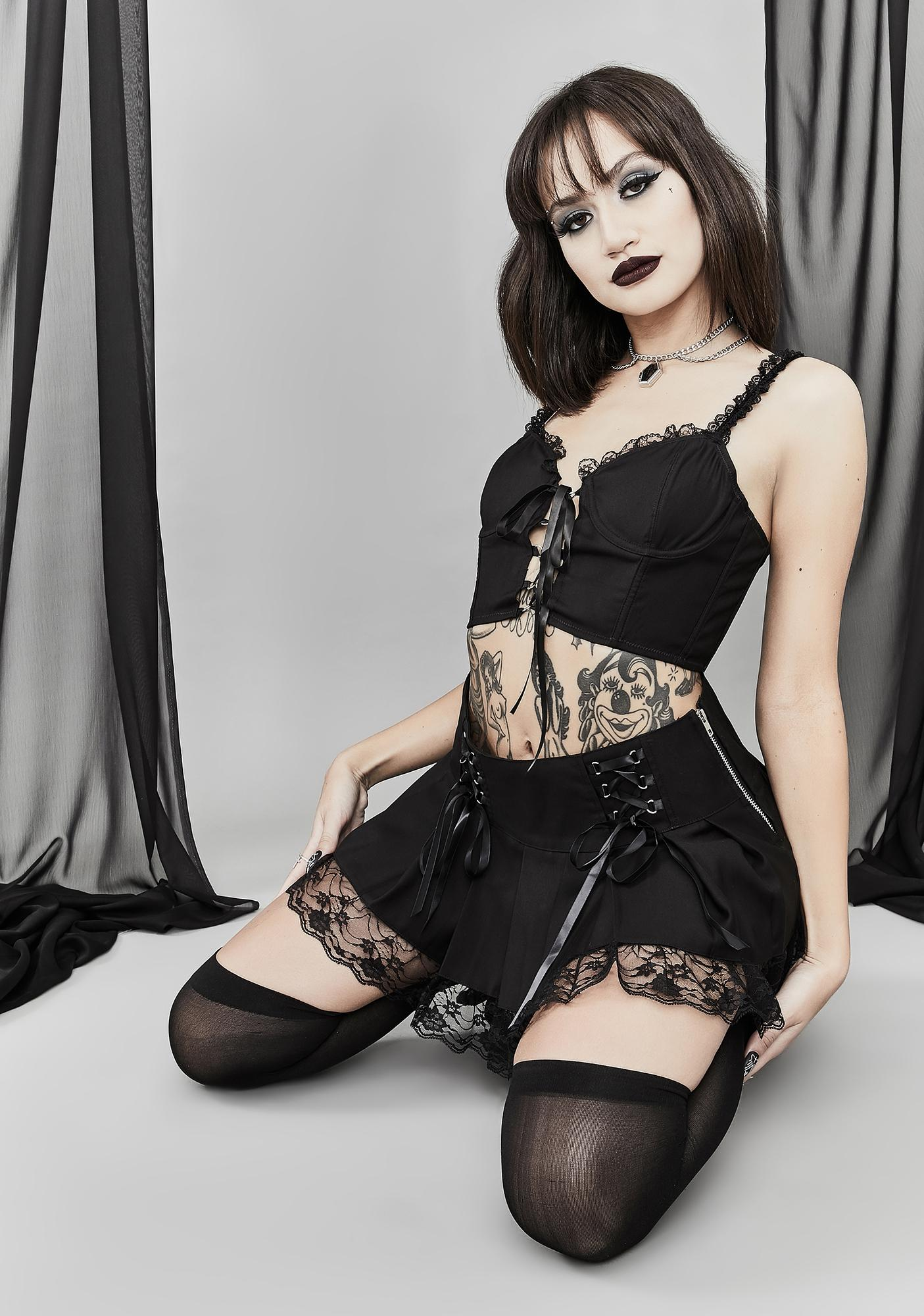 Widow Song Of Sadness Pleated Skirt