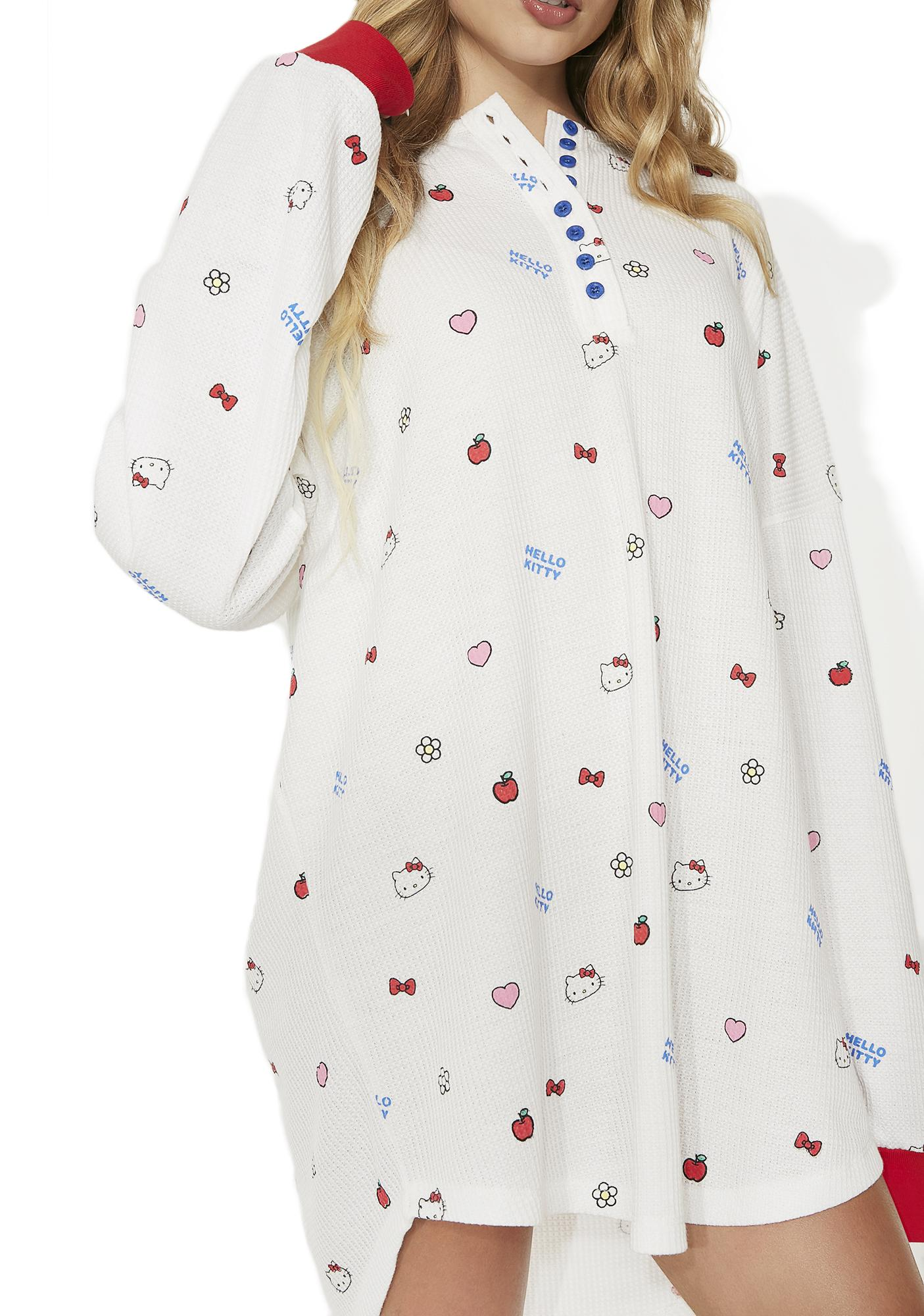 Lazy Oaf Hello Kitty Oversized Waffle T-Shirt