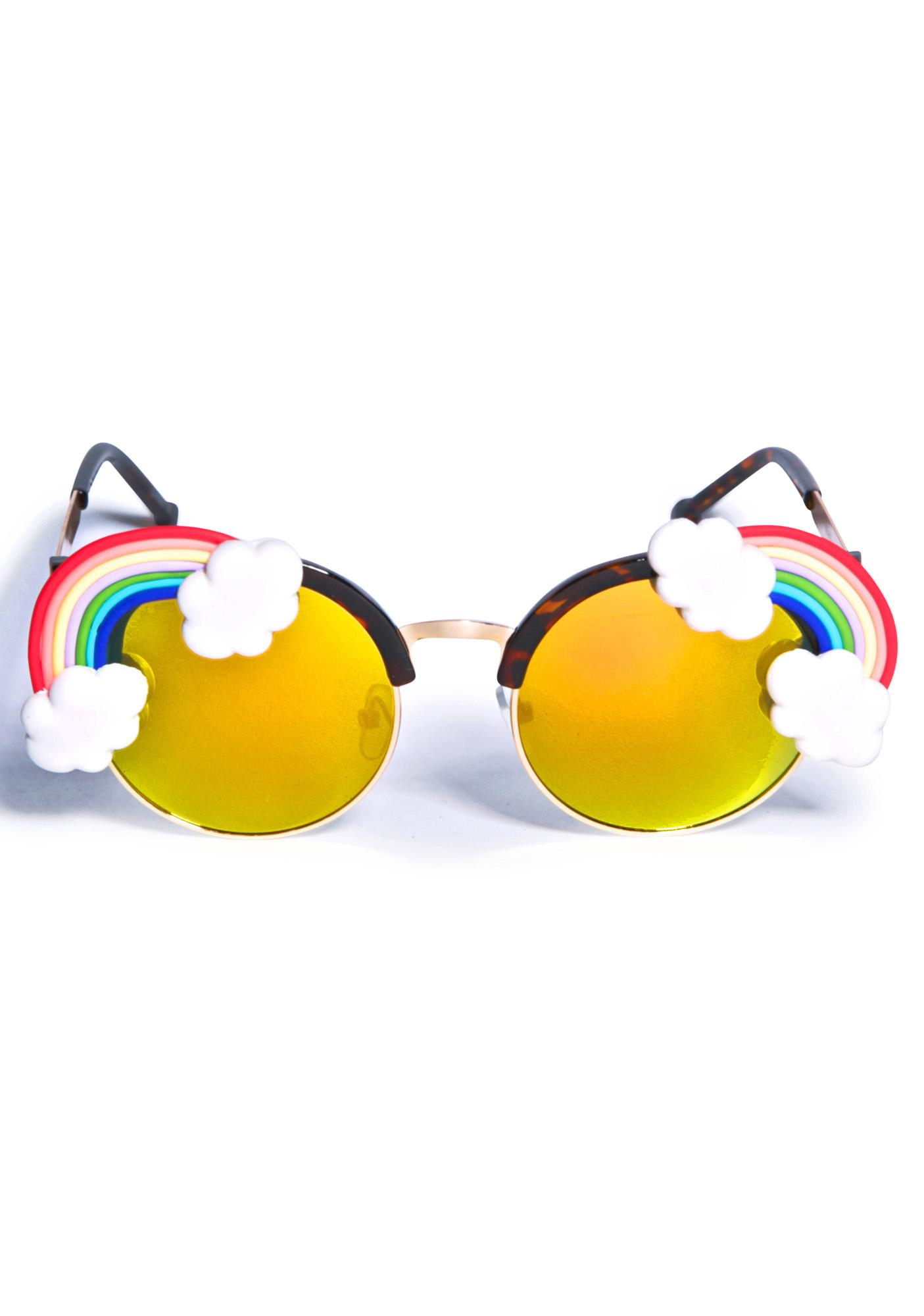 Gasoline Glamour Fantasia Rainbow Acid Sunglasses