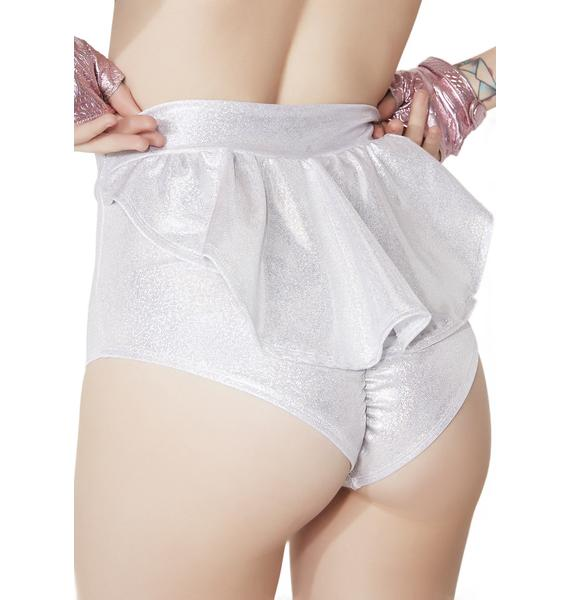 Sugarpuss Deep Space Darling Ruffle Booty Shorts