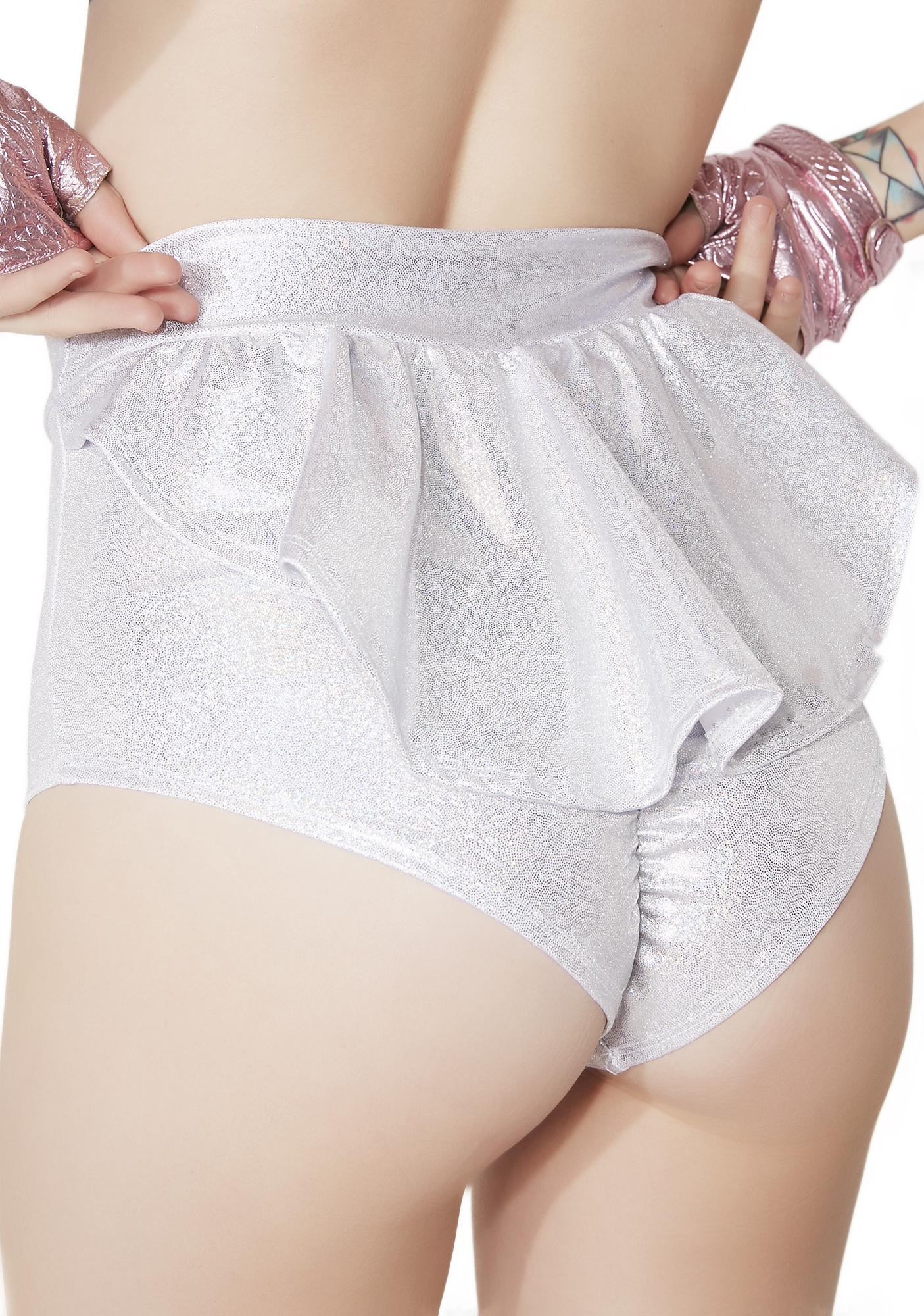 Sugarpuss Deep Space Darling Ruffle Booty Shorts