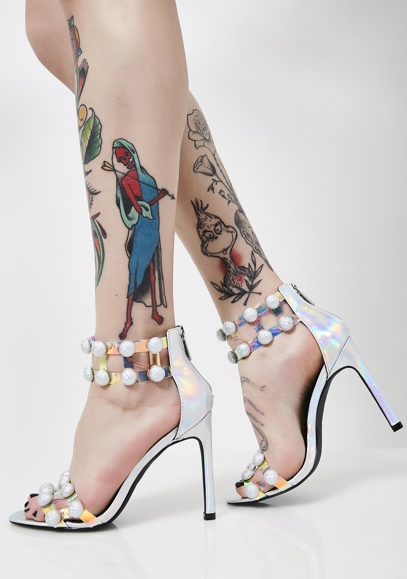 Trippy Candy Hologram Heels