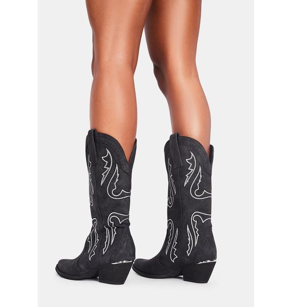 Volatile Shoes Raspy Cowboy Boots