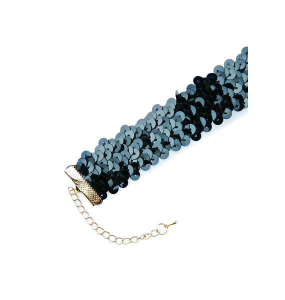 Ink Radiance Sequin Choker