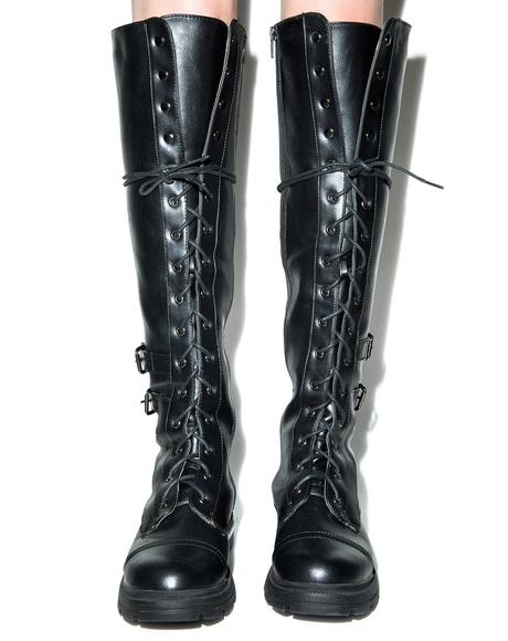 Saeko Tall Combat Boots