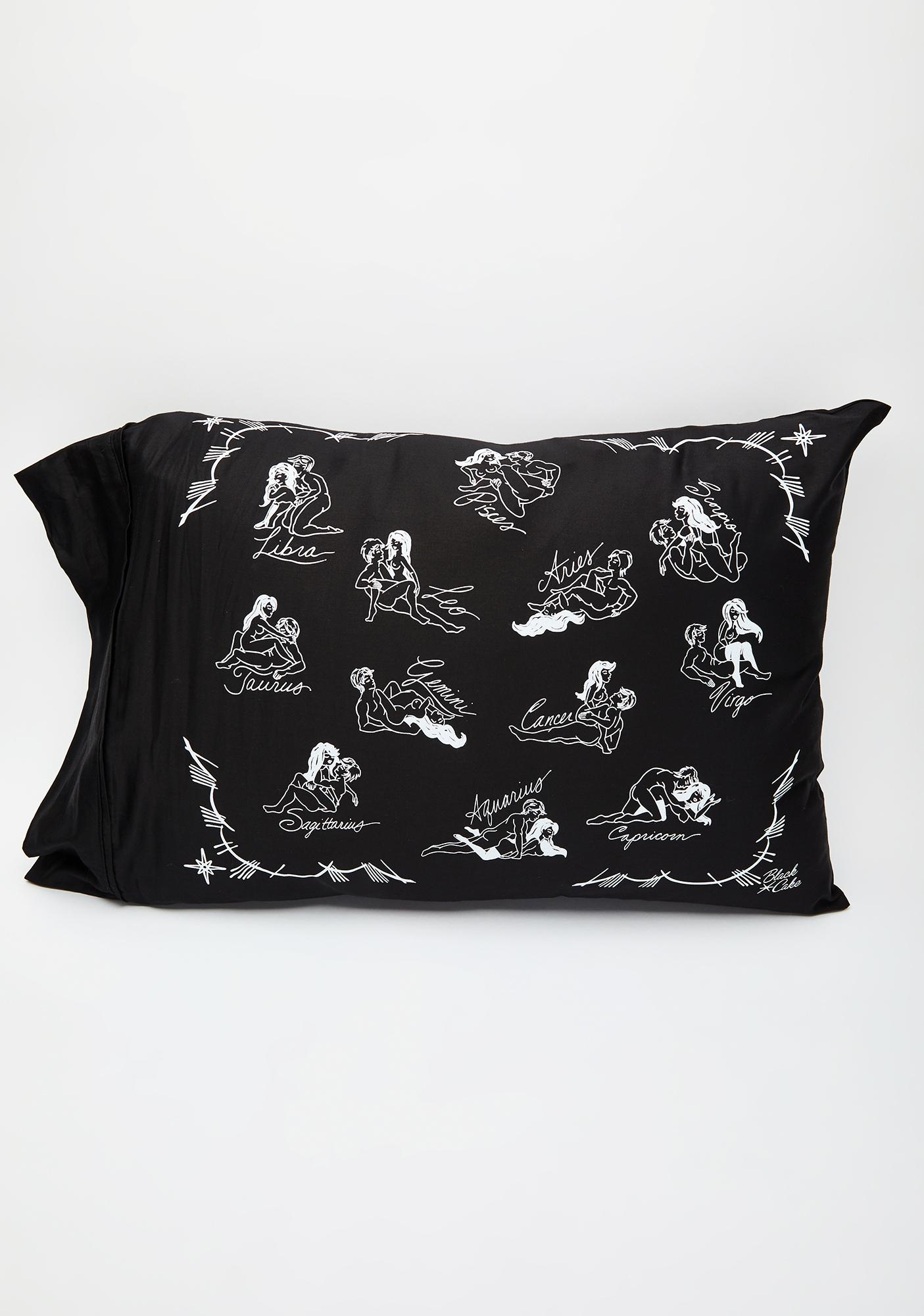 Black Cake Cosmic Love Pillowcase Set