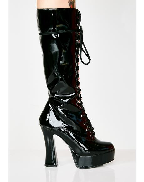 Hundreds Only Exotica Platform Boots