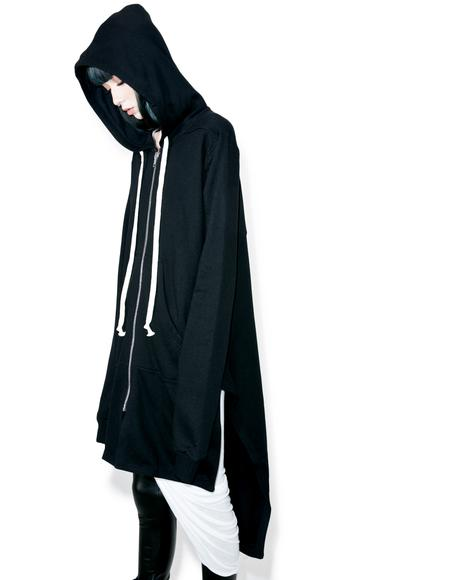 Rainin' Ash Elongated Hoodie
