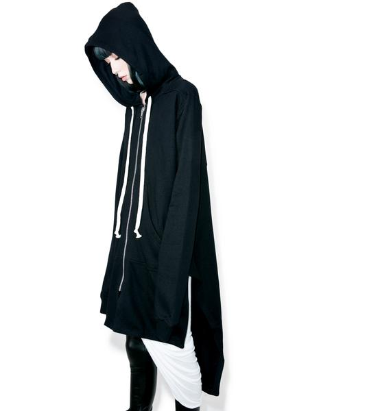 Punk Rave Rainin' Ash Elongated Hoodie