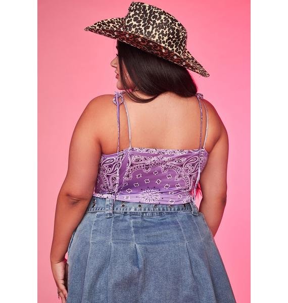 Lilac Just Ride It Out Crop Top