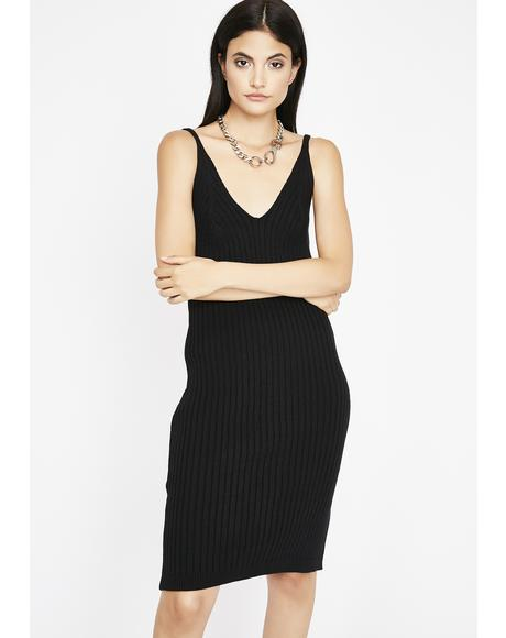 Do No Wrong Ribbed Dress