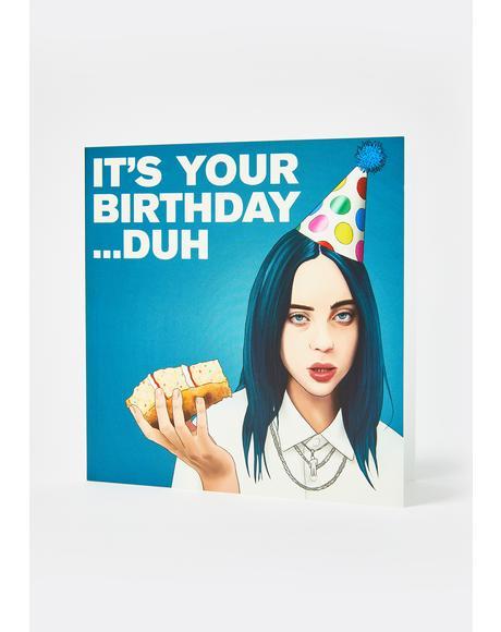 Billie Eilish Duh Card
