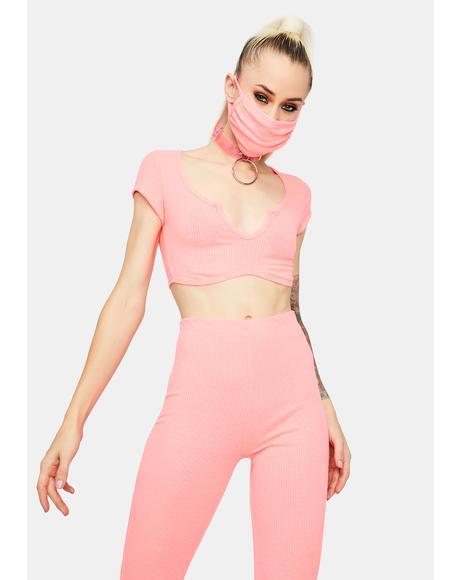Blush Top Notch Hottie Crop Pant Set