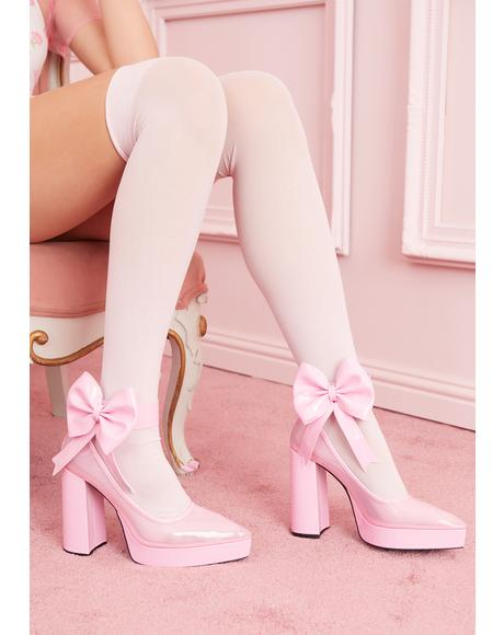 Doll House Arrest Bow Heels
