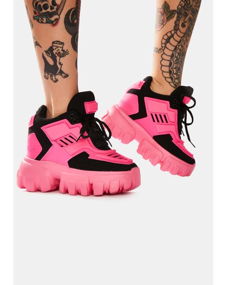 Pink Psycho Candy Platform Sneakers