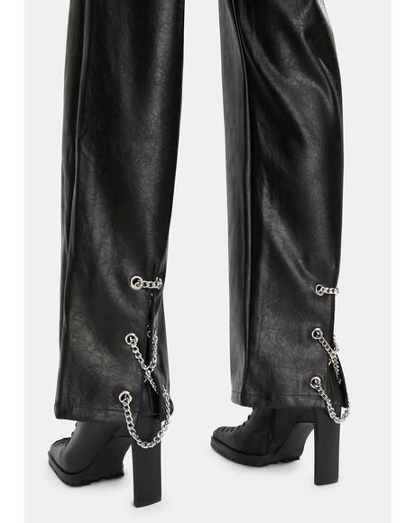 Flori Vegan Leather Pants