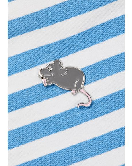 Little Rat Pin Badge