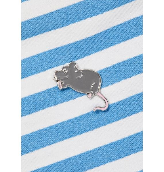 Lazy Oaf Little Rat Pin Badge