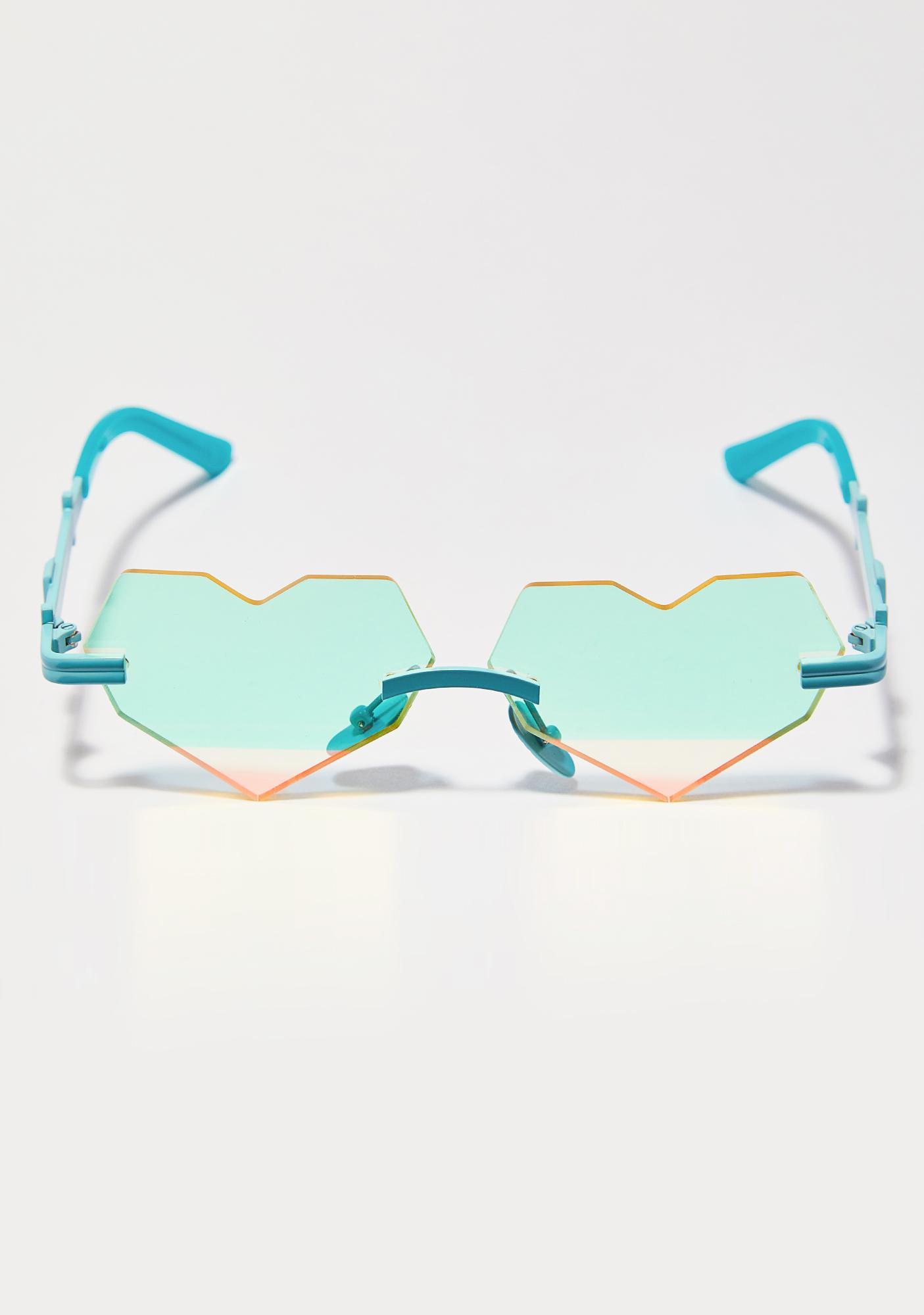 ESQAPE Teal Be Heart Sunglasses