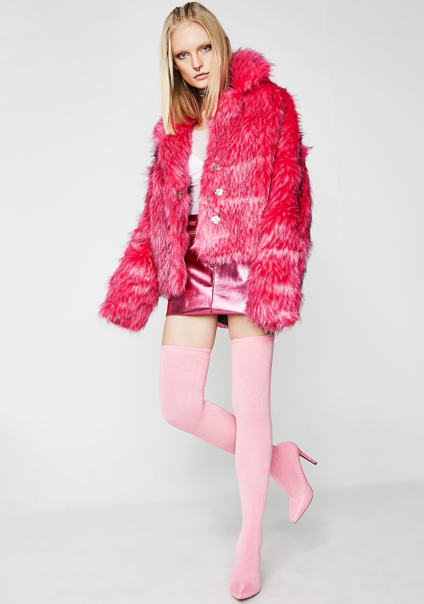 Sugar Easy Breezy Fuzzy Coat