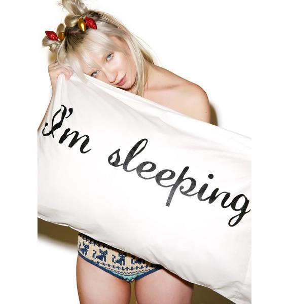 Jac Vanek Shhh I'm Sleeping Pillowcases